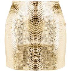 LEATHER MINI SKIRT T O R A N N C E ❤ liked on Polyvore featuring skirts, mini skirts, leather skirt, brown skirt, short brown skirt, real leather skirt and snake print skirt