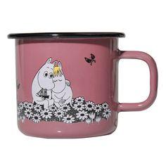 Moomin Enamel Retro Mug -Together Forever/Pink Moomin Shop, Moomin Mugs, Les Moomins, Kids Book Series, Tove Jansson, Together Forever, Retro, Discount Designer, Scandinavian