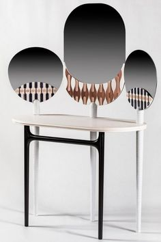 This bespoke dressing table features three mirrors similar to decorated fans act as a structure, linear elements that add up give rise to a contemporary object full of references to the past where marble is combined with other materials, suggesting a new interpretation of the Sicilian tradition. Dressing Table Inspiration, Bathroom Design Inspiration, Classic Bathroom, Luxury Furniture Brands, Luxury Closet, Contemporary Bathrooms, Mid Century Modern Design, Sicilian, Storage Spaces