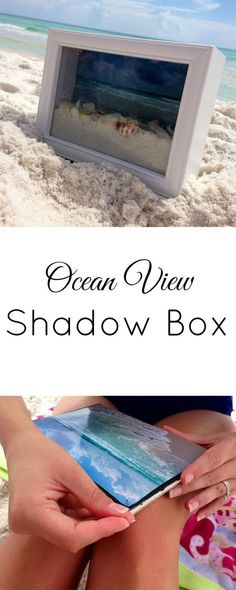 Ocean View Shadow Box Don't leave the beach on your next vacation without some sand and seashells. You can now display all your family memories in this beautiful shadow box year round. Get tips and pointers to make it easier from thesoutherncoutur…. Memories Box, Family Memories, Vacation Memories, Cherished Memories, Summer Memories, Vacation Photo, Travel Memories, Box Photo, Deco Nature