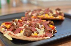 Et pitabrød ble plutselig to pizza! (Bakekona)