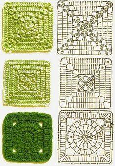 Transcendent Crochet a Solid Granny Square Ideas. Inconceivable Crochet a Solid Granny Square Ideas. Crochet Motifs, Crochet Blocks, Granny Square Crochet Pattern, Crochet Diagram, Crochet Chart, Crochet Squares, Crochet Patterns, Granny Squares, Knitting Patterns