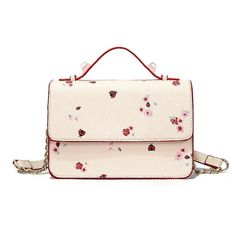 Lovely small bags with beautiful Flowers for woman affordable women luxury mini messenger bags handbag ladies crossbody bags Mini Messenger Bag, Small Bags, Dandy, Gold Chains, Beautiful Flowers, Bugs, Floral Prints, Leather, Indiana
