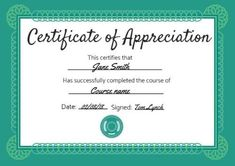 Customize this Turquoise And Green traditional certificate of appreciation by simply clicking on template to edit! Green Certificate, Certificate Of Appreciation, Names, Turquoise, Templates, Traditional, Type, Check, Stencils