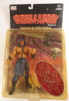 Cremator Chaos toys series 2 Lady Death character Moore Collectibles 1999 moc #ChaosComics