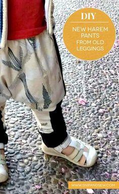 harem pants from old leggings
