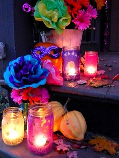 day of the dead porch decorations | #dayofthedead #halloween
