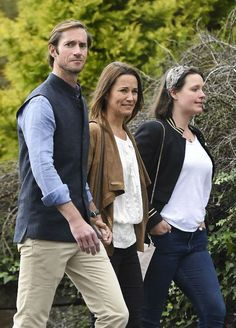 Pippa Middleton and her new hubby James looked cute and cozy walking around West Cork ahead of her friend Camilla's wedding today.