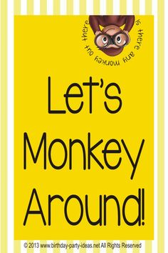 Best theme party for Curious George Birthday Party - Birthday . Curious George Crafts, Curious George Party, Curious George Birthday, Monkey Birthday Parties, Birthday Fun, Second Birthday Ideas, Twins 1st Birthdays, Cool Themes, Party Themes
