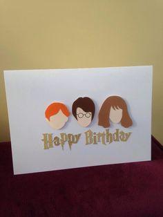 Harry Potter Birthday/General Card by HandmadebyRobynne on Etsy https://www.etsy.com/listing/241056011/harry-potter-birthdaygeneral-card