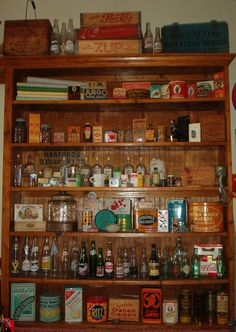 Another one of our old time general store shelves in our store.