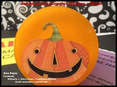 Jabones de Calabaza ideales para una noche de susto!! Pedidos: anarojas335@gmail.com  para Todos EEUU