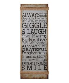 Loving this 'Always Tell the Truth' Wall Sign on #zulily! #zulilyfinds