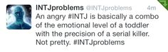 I don't have the emotional level of a toddler. I have the emotional level of a 17 year old trying to scheme how to get out of the house without anyone knowing. Intj Personality, Myers Briggs Personality Types, Myers Briggs Personalities, Intj And Infj, Infp, Typewriter Series, Quotes Typewriter, Edgar Allan Poe, Ernest Hemingway