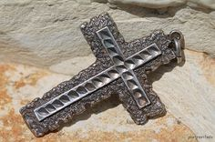 Vintage 925 Sterling Silver Holy Cross Pendant