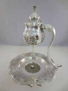 Sterling Silver 925 Mayim Achronim Bowl with Cup Judaica