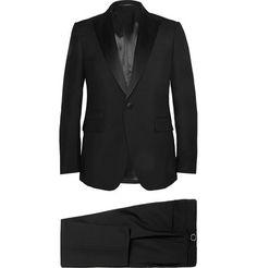 Berluti Black Slim-Fit Wool And Mohair-Blend Tuxedo | MR PORTER