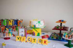 Thématique Arts pour fête d'enfants - Arts party - Festa pintando o sete. Création Trésor de fêtes