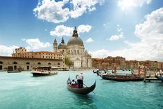Grand Canal and Basilica Santa Maria della Salute, Venice, Italy and sunny day . 5 Quotes About Italy That Will Awake Your Wanderlust Places Around The World, Oh The Places You'll Go, Places To Visit, Top Places To Travel, Vacation Destinations, Dream Vacations, Vacation Spots, Vacation Packages, Holiday Destinations