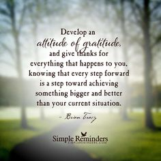 Develop an attitude of gratitude, and give thanks for everything that happens to… – Best Quotes images in 2019 Simple Reminders Quotes, Reminder Quotes, Attitude Of Gratitude, Gratitude Quotes, Gratitude Jar, Thankful Quotes, Practice Gratitude, Joel Osteen, Positive Thoughts