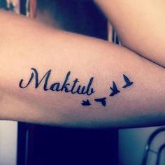 Resultado de imagem para maktub tattoo