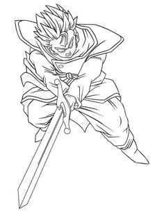 dragon ball z coloring pages trunks dbz | 1000+ images about Dragon Ball Z Coloring Pages on ...