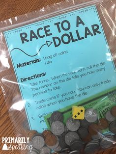 math Activities to Practice Counting Coins 4 comments Freebies, math, math games, Money Money is one of my favorite math topics. Maybe it's because it lends itself so easily to hands-on learning Math Stations, Math Centers, Activity Centers, Maths 3e, Math Math, Second Grade Math, 2nd Grade Math Games, Second Grade Centers, 3rd Grade Activities
