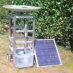 En su tiempo libre Alain Coty, un ingeniero francés retirado creó un motor solar que nunca se descompone, una gran solución para las personas que viven en áreas remotas.
