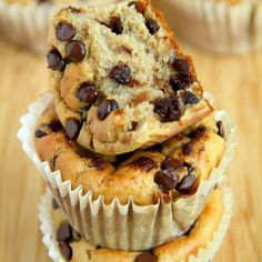 . Banana Oat Greek Yogurt Muffins . By @Runwithspoons, visit the blog runningwithsponns, link in the bio @Runwithspoons . 1 cup plain Greek yogurt 2 ripe bananas 2 eggs 2 cups rolled oats (old fashioned or quick) ¼ cup brown sugar 1½ tsp. baking powder ½ tsp. baking soda ½ cup chocolate chips, mini or regular Preheat oven to 400F and prepare a muffin pan by spraying cavities with cooking spray or lining them with paper liners**. Set aside. Add all ingredients except for chocolate chips to a…