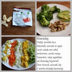 Gezond leven van Jacoline: Dagmenu woensdag Lchf, Kiwi, Broccoli, A Food, Smoothie, Avocado, Mango, Tacos, Low Carb