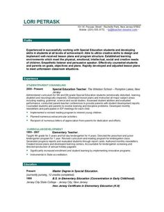 Example Of A Teachers Resume Incredible Design Early Childhood Education  Resume 15 Example .