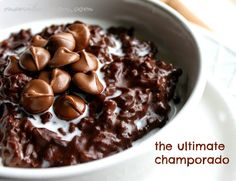 Sticky rice cooked in coconut milk and chocolate. The ultimate breakfast sweet treat or serve with ice cream and it's a yummy dessert - Champorado!