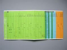 1972 Munich Olympics Timetable | Otl Aicher