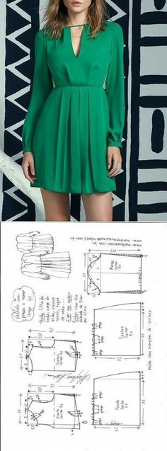 Flare dress pattern - #moldes #dicas #moda