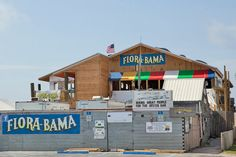 The Flora-Bama! Nothing quite like it...half the bar is in Alabama and half is in Florida. Photo by the Flora-Bama
