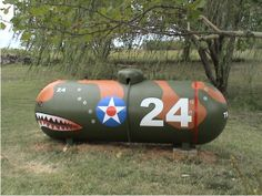 Kinda camo. Lets play hide the propane tank. If you can find it, you can fill it!