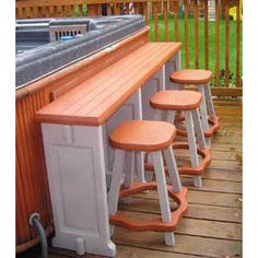 This bar and stool bination is the perfect plement to your spa or hot tub