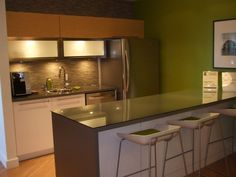 office kitchenette | The office furniture is very functional, but does not lack style ...