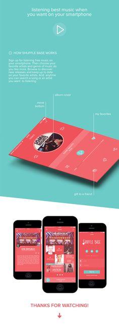 Shuffle Base - app design on Behance