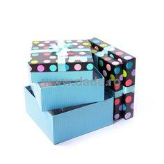 Set 3 cutii de cadou cu buline colorate-big Decorative Boxes, Home Decor, Decoration Home, Room Decor, Home Interior Design, Decorative Storage Boxes, Home Decoration, Interior Design