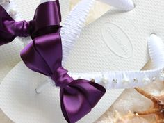 Bridal Havaianas flip flops, Eggplant Bridal Shoes, Pearl Crystals, Beach Wedding Flip Flops satin, Dark purple - CUSTOM colors available Bridal Jewelry Vintage, Bridal Jewelry Sets, Bridal Accessories, Bridal Sandals, Bridal Shoes, Small Bridal Parties, Wedding Flip Flops, Disney Bridal Showers, Indian Bridal Makeup