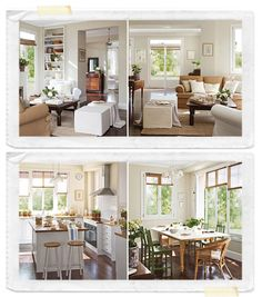 neutral w/ hints of color All White, Home Decor Inspiration, Neutral Colors, My House, Home Improvement, Tropical, Decorating, Wood, Modern