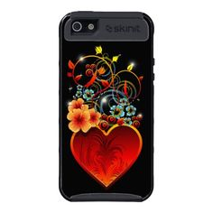 #Valentine #Floral #Heart L#ove #Skinit #iPhone 5 #Case    http://www.zazzle.com/valentine_floral_heart_love_skinit_iphone_5_case-256183321983832715
