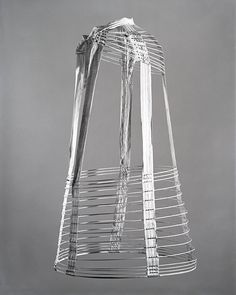 Hoop Skirt, c. 1870 Crinoline (undergarment – hoop skirt): a series of either whalebone or steel hoops were sewn into a fabric skirt to make a hoop skirt.