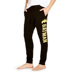 Men's Batman Joggers Black ($12) ❤ liked on Polyvore featuring mens