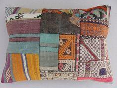 Modern Bohemian Home DecorTurkish Patchwork Kilim  by misterpillow, $46.00