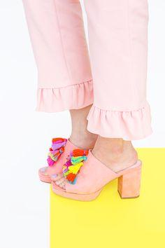 » DIY Tassel Mule Sandals