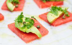 How interesting...grapefruit crudo (cut in a way to look like sashimi tuna)