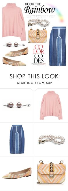 """""""Rainbow Style"""" by pearlparadise on Polyvore featuring Acne Studios, Valentino, women's clothing, women's fashion, women, female, woman, misses, juniors and contestentry"""