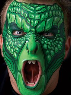 The Wolfe brothers, Nick and Brian, take face painting to the next level. This is perfect for Halloween! Check out their book Extreme Costume Makeup to find out how to paint this look! http://www.northlightshop.com/extreme-costume-makeup-u1468?lid=BEibbl092013